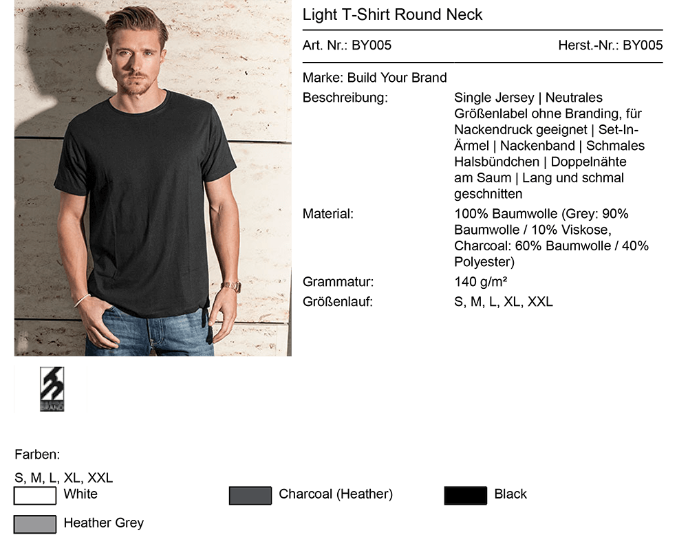 T-Shirt ohne Label BY005